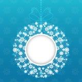 Christmas round frame vector Royalty Free Stock Photos
