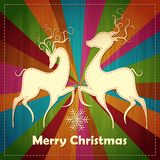 Christmas Rreindeer Couple Royalty Free Stock Photos