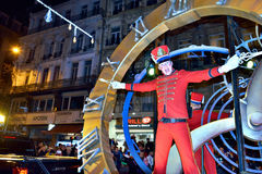 Christmas RTL Parade in Brussels, Belgium Royalty Free Stock Photo