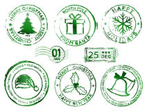 Christmas rubber stamps. Christmas and new year rubber stamps Royalty Free Stock Images