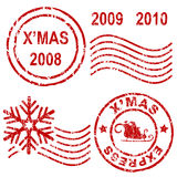 Christmas rubber stamps Stock Images