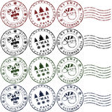Christmas rubber stamps Royalty Free Stock Photography