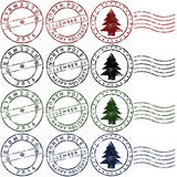 Christmas rubber stamps Stock Image