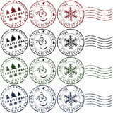 Christmas rubber stamps Stock Photo