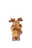 Christmas rudolf. A christmas rudolf figure with a box Stock Photography
