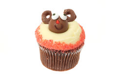 Christmas Rudolf cupcake Stock Images