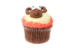 Christmas Rudolf cupcake Royalty Free Stock Photography