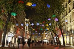 Christmas in Rue de la Republique Royalty Free Stock Photography