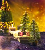 Christmas rustic decoration royalty free stock image