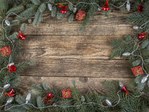 Christmas rustic framework Royalty Free Stock Photo