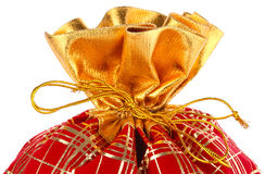 Christmas sack full of presents Stock Image