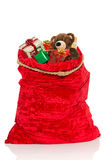 Christmas sack full of toys Royalty Free Stock Photo