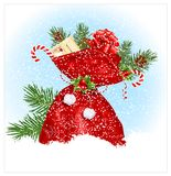 Christmas sack with presents. Royalty Free Stock Image