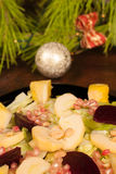 Christmas salad Stock Images