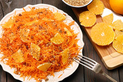 Christmas salad from carrots with orange Stock Image