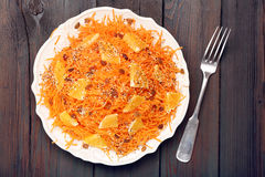 Christmas salad from carrots with orange Stock Photos