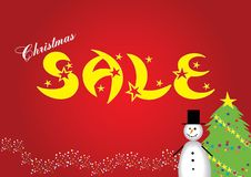 Christmas sale. Poster for your commercial announcement about holidays sale, illustration, see more at my portfolio stock illustration