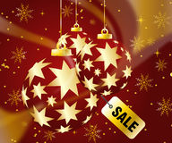 Christmas Sale. Sales and discount concept Illustration vector illustration