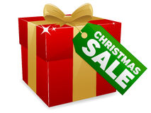 Christmas Sale. An illustration of a Christmas Sale icon Stock Photos