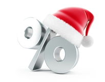 Christmas Sale. Santa hat on a white background Royalty Free Stock Image