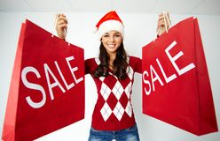 Christmas sale Stock Photo