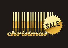 Christmas SALE. A fully scalable vector illustration of Christmas Sale with barcode vector illustration
