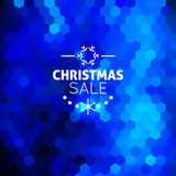 Christmas sale abstract blue background Royalty Free Stock Photos