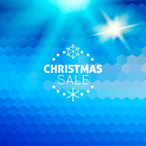 Christmas sale abstract blue background. Christmas sale abstract blue geometric shining background vector illustration