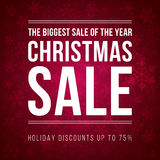 Christmas sale ad designed in a modern flat style Stock Photography