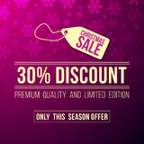 Christmas sale ad with discount sign Royalty Free Stock Photos