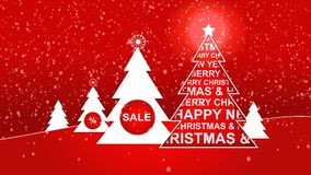 Christmas Sale Aimation stock footage