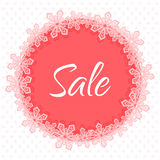 Christmas sale applique banner Royalty Free Stock Photo