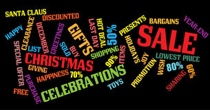 Christmas sale background Royalty Free Stock Photos