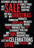 Christmas sale background Royalty Free Stock Image