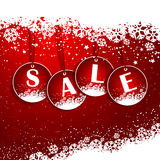 Christmas Sale background Stock Photos