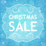 Christmas sale background Stock Image