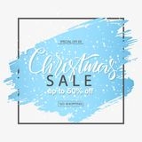Christmas sale background with brush stroke.Vector banner. Christmas sale background with brush stroke.Vector banner Royalty Free Stock Photography