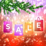 Christmas sale background with Christmas decoration Stock Image