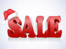 Christmas sale background with Christmas decoration Royalty Free Stock Photos