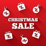 Christmas sale background. Christmas gifts, balls Royalty Free Stock Photo