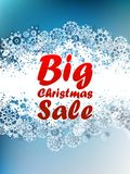 Christmas sale background. Stock Image