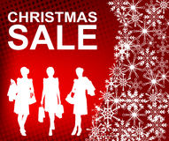 Christmas sale background Stock Photography