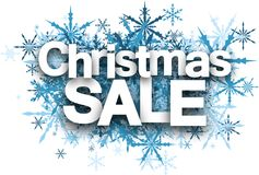 Christmas sale background with snowflakes. Royalty Free Stock Image