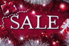 Christmas Holiday Sale Background. A Christmas background with the word sale Stock Photo