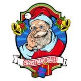Christmas Sale Badge Stock Photography