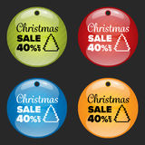 Christmas sale badge Royalty Free Stock Images