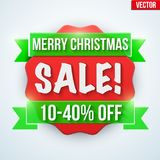 Christmas Sale badge and label Stock Image