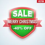 Christmas Sale badge and label Stock Photos