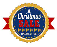 Christmas sale badge Royalty Free Stock Image