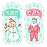 Christmas sale badges Stock Image